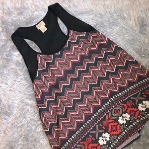 Eyelash Patterned Thick Strapped Tank Top